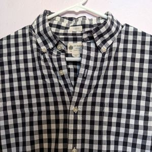 J. Crew Navy Buffalo Plaid Button Up Shirt